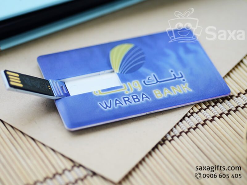 Usb thẻ nhựa namecard in logo Warba Bank