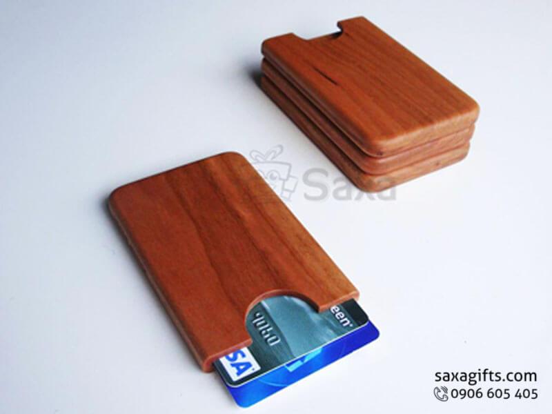 Hộp namecard gỗ chữ nhật dạng hở không nắp đậy