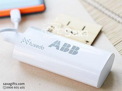 Pin sạc dự phòng in logo chính hãng hình chữ nhật dát cạnh