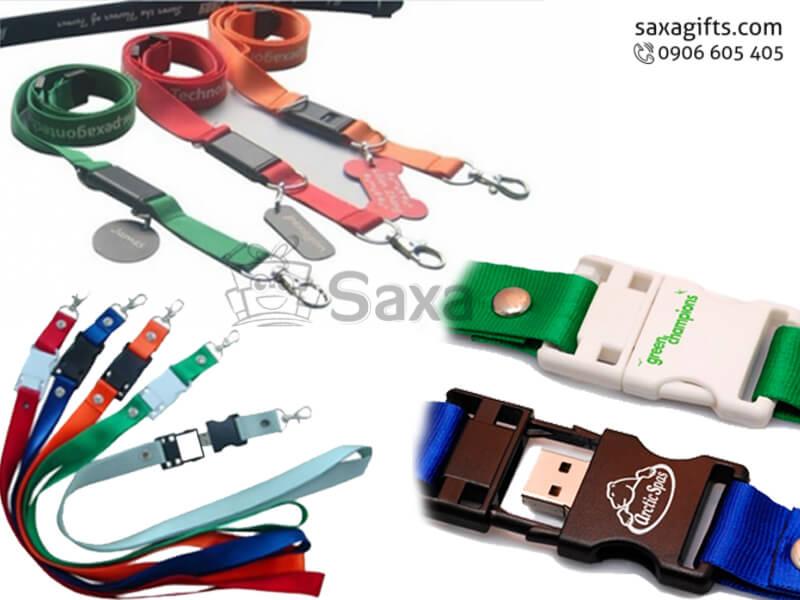 USB độc đáo in logo dây đeo thẻ nhân viên