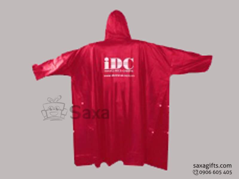 Áo mưa vải nhựa Rạng Đông in logo theo yêu cầu