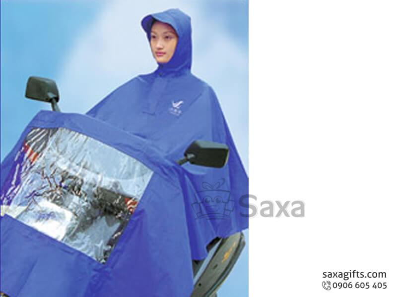 Áo mưa cánh dơi có nhựa trong che đèn xe form rộng