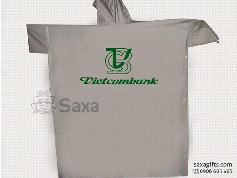 Áo mưa cánh dơi in logo vải nhựa quà tặng từ Vietcombank