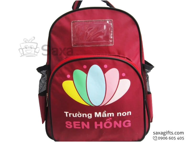 Balo cho trẻ em in logo trường mầm non Sen Hồng
