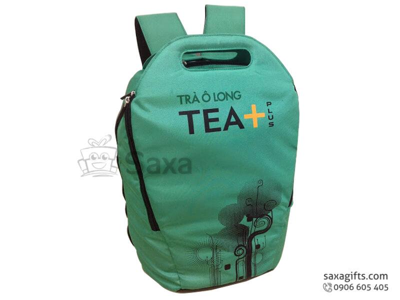 Balo laptop in logo Trà Ô Long Tea Plus 3 màu chất liệu vải dù