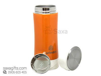 Bình giữ nhiệt in logo hiệu Carlmann có khay lọc trà 0.7 lít