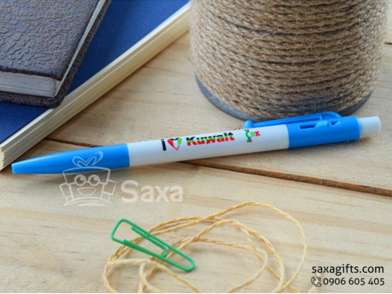 Bút bi nhựa Thiên Long in logo giá rẻ
