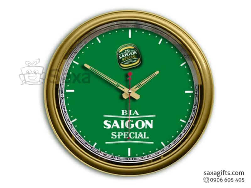 Đồng hồ treo tường in logo hình tròn không số của Saigon Special