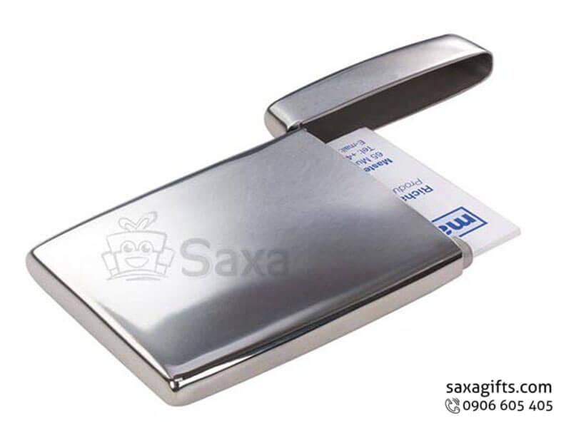 Hộp namecard kim loại in logo nắp bật kiểu nhỏ độc đáo