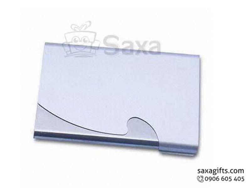 Hộp namecard kim loại nắp bật dập kiểu gợn sóng