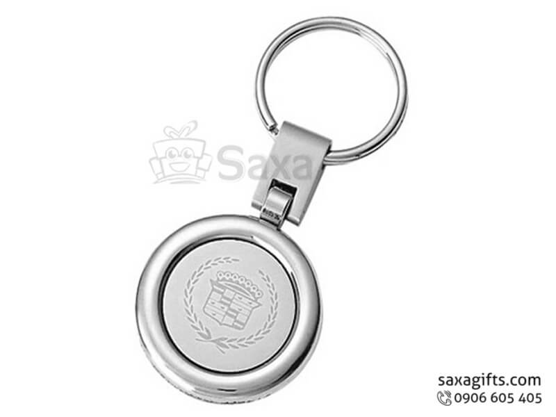 Móc khóa kim loại in logo hình tròn
