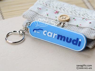 Móc khóa cao su in logo Carmudi