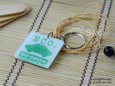 Móc khóa mica in logo của Eco