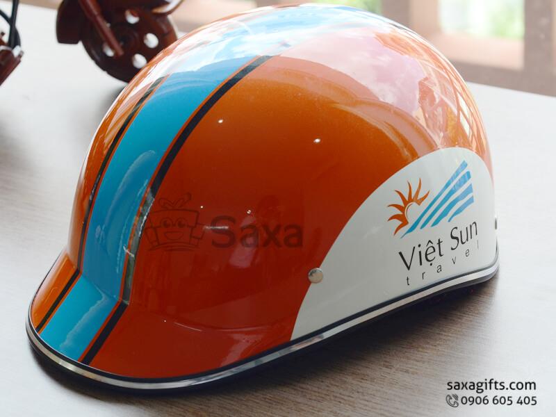 Mũ bảo hiểm in logo quảng cáo thiết kế vành đúc của Vietsun