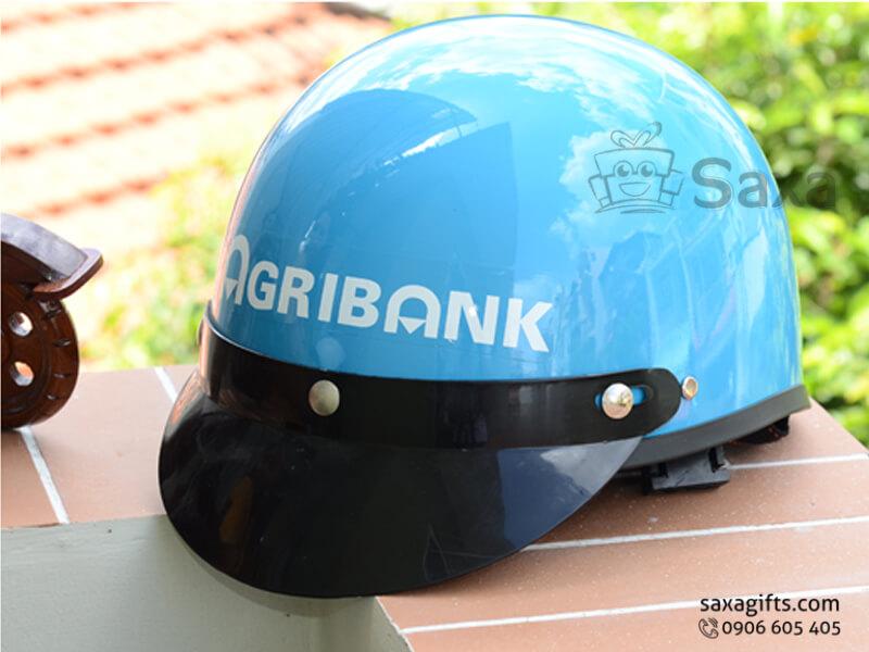 Mũ bảo hiểm in logo quảng cáo lưỡi trai rộng, tháo lắp được