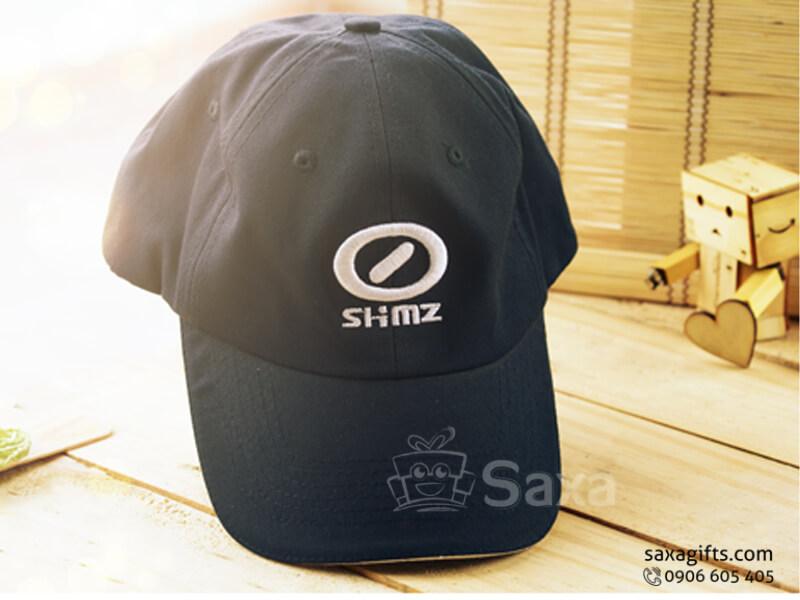 Nón lưỡi trai in logo vải kaki màu xanh đen (Cap Clothes)