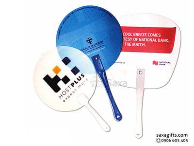 Quạt nhựa cầm tay in logo quảng cáo theo yêu cầu