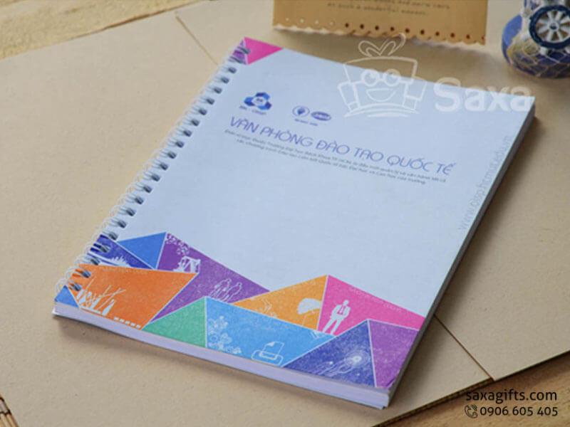 Sổ lò xo bìa giấy couche khổ A5 – SNL007