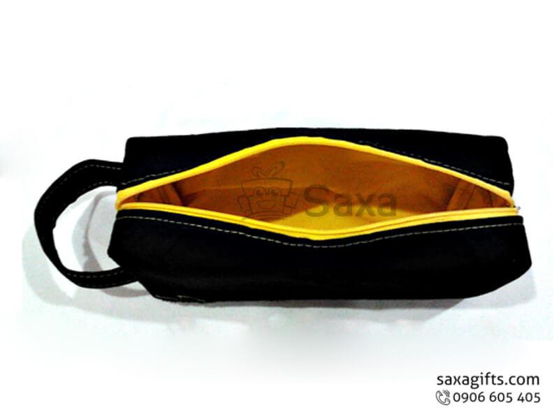 Túi vải dù in logo dạng bóp đựng đồ học sinh