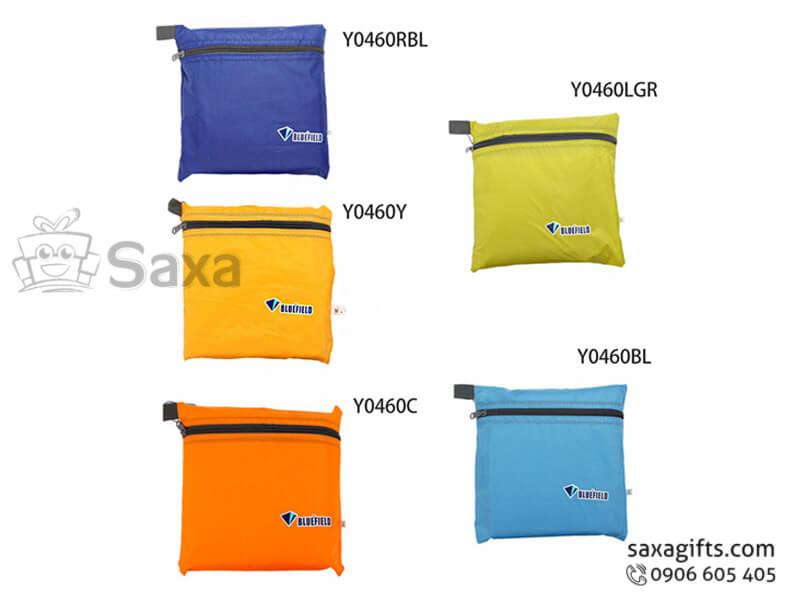Túi vải dù in logo nhiều màu đựng đồ cá nhân cao cấp