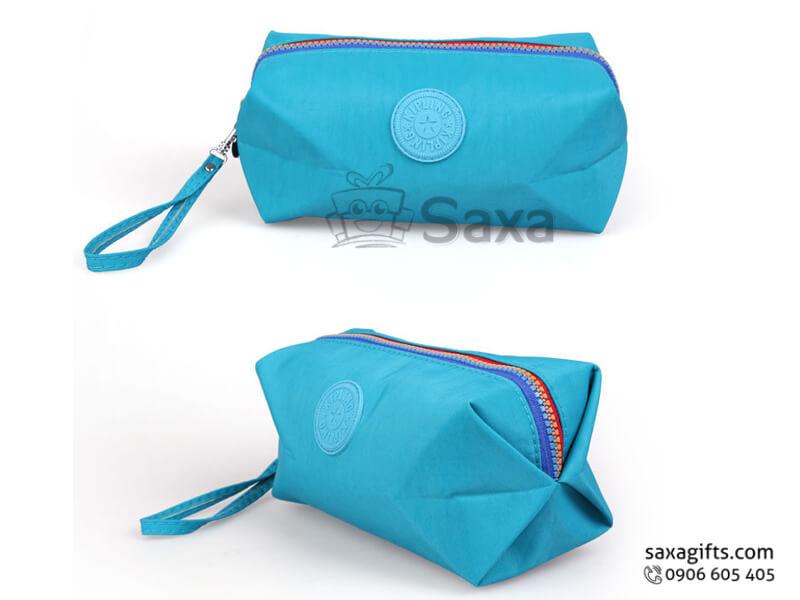 Túi vải dù in logo hình trống dây kéo có quai