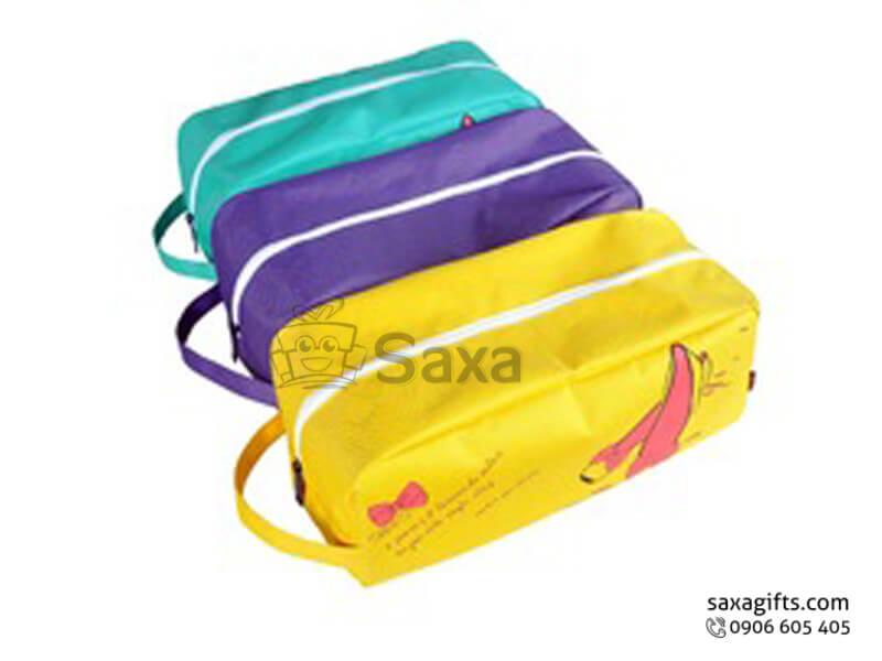 Túi vải dù in logo đựng giày có quai xách bên hông