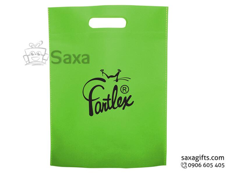 Túi môi trường in logo tay xách liền túi đơn giản