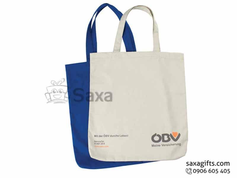 Túi môi trường in logo dạng túi dẹp của OBV