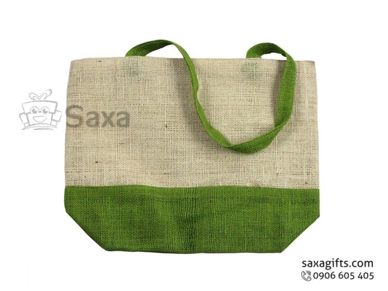 Túi vải bố in logo phối 2 màu thời trang