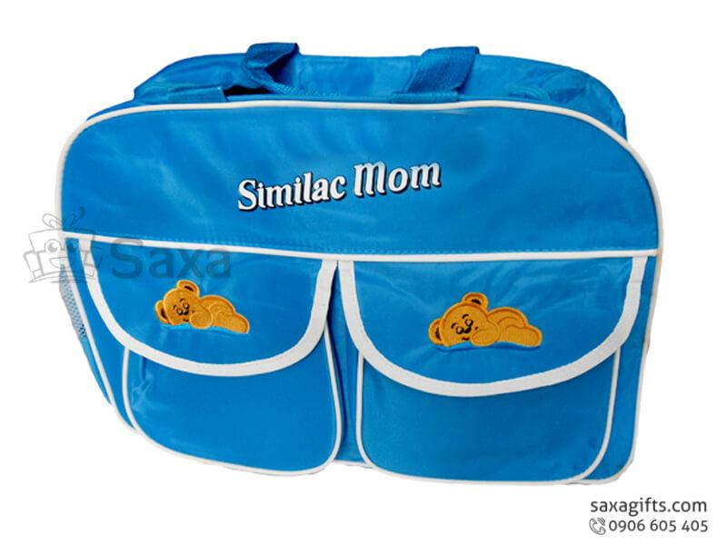 Túi du lịch in logo dùng đựng đồ trẻ em có nhiều ngăn