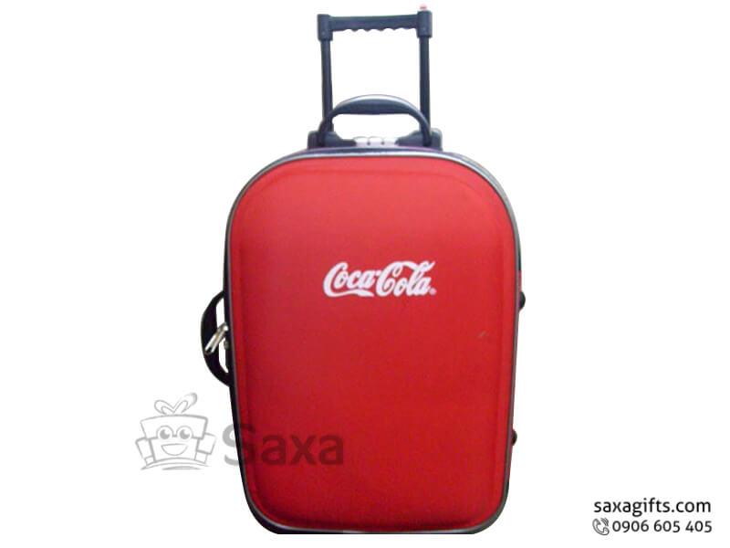 Vali kéo in logo có khóa mã số của Cocacola