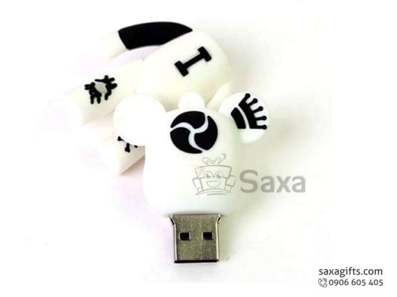 USB vỏ cao su làm theo mẫu 3D nắp rời hình con Gấu