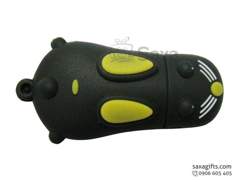 USB vỏ cao su làm theo mẫu 3D nắp rời chuột chũi