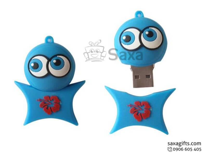USB vỏ cao su làm theo mẫu 3D nắp rời ngôi sao