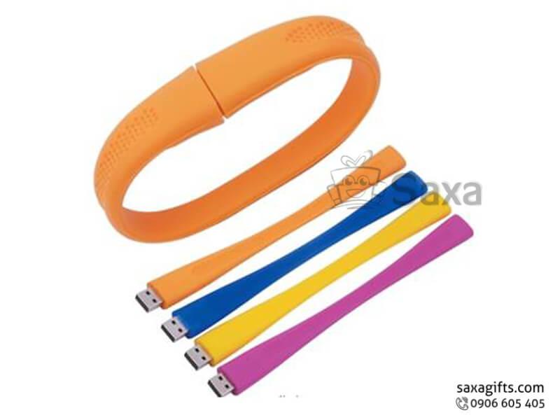 USB vỏ cao su làm theo mẫu vòng đeo tay bản to nắp rời