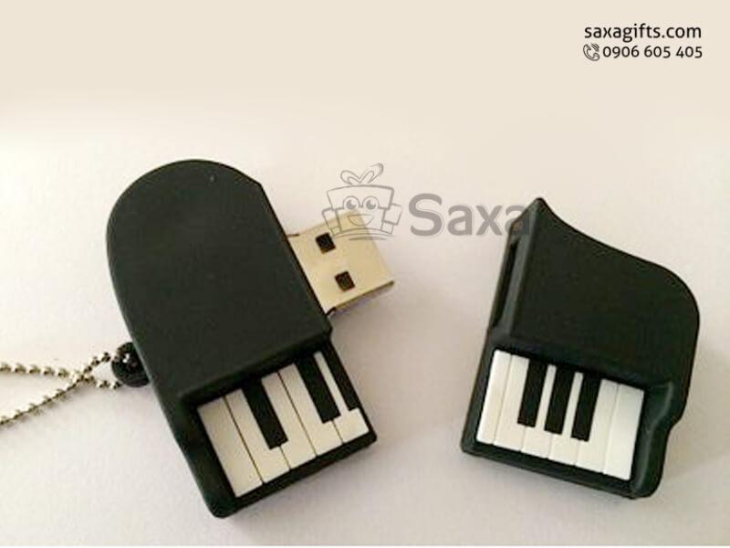 USB cao su làm theo mẫu 2D mô hình đàn piano