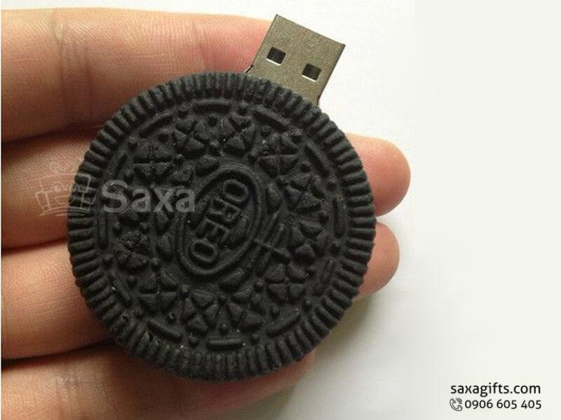 USB vỏ cao su làm theo mẫu 3D mô hình bánh quy