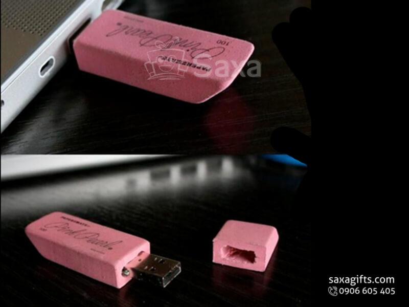 USB vỏ cao su làm theo mẫu 3D mô hình cục gôm