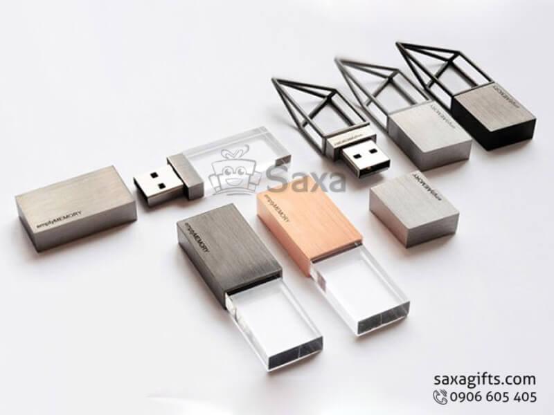 USB độc đáo in logo 3D có đèn led