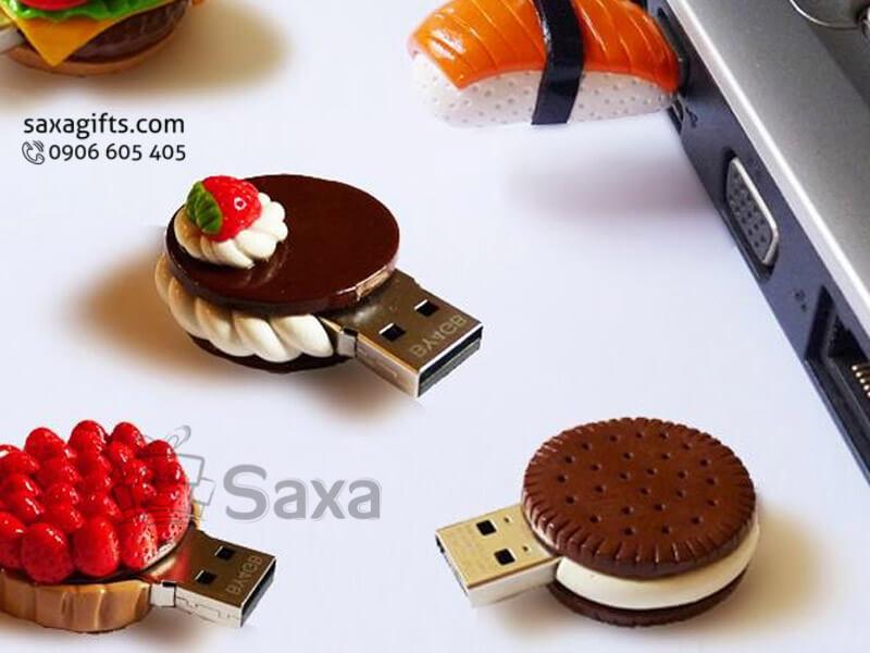 Usb độc đáo in logo mô hình bánh kem
