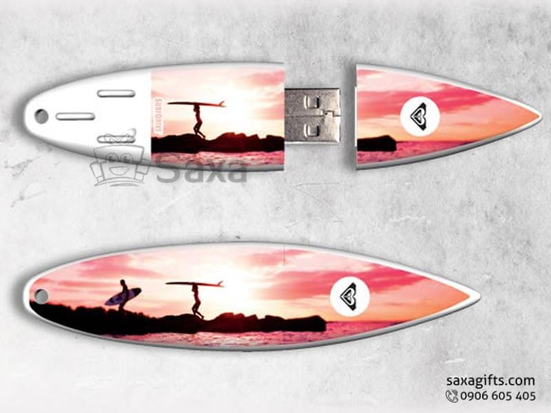 Usb kim loại in logo hình tấm lướt ván sóng