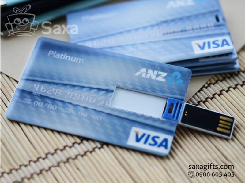 USB thẻ nhựa dạng thẻ ATM ngân hàng ANZ