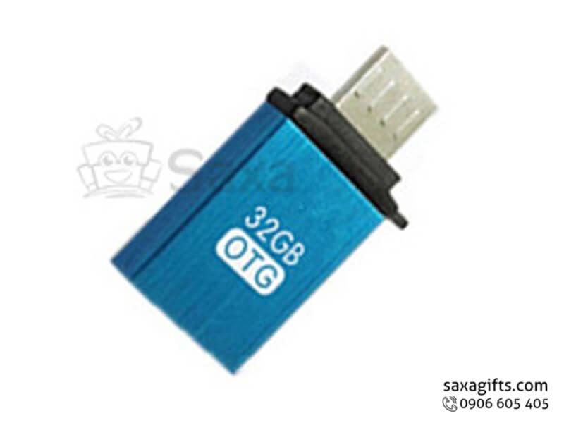 Usb on the go in logo nắp rời bằng nhựa nhiều màu
