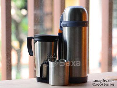 Bộ quà tặng gia dụng in logo bộ bình giữ nhiệt inox cao cấp