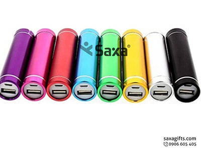 Pin sạc dự phòng in logo kiểu đèn pin nhỏ gọn
