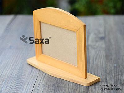 Khung ảnh gỗ để bàn in logo hình chữ nhật nằm ngang