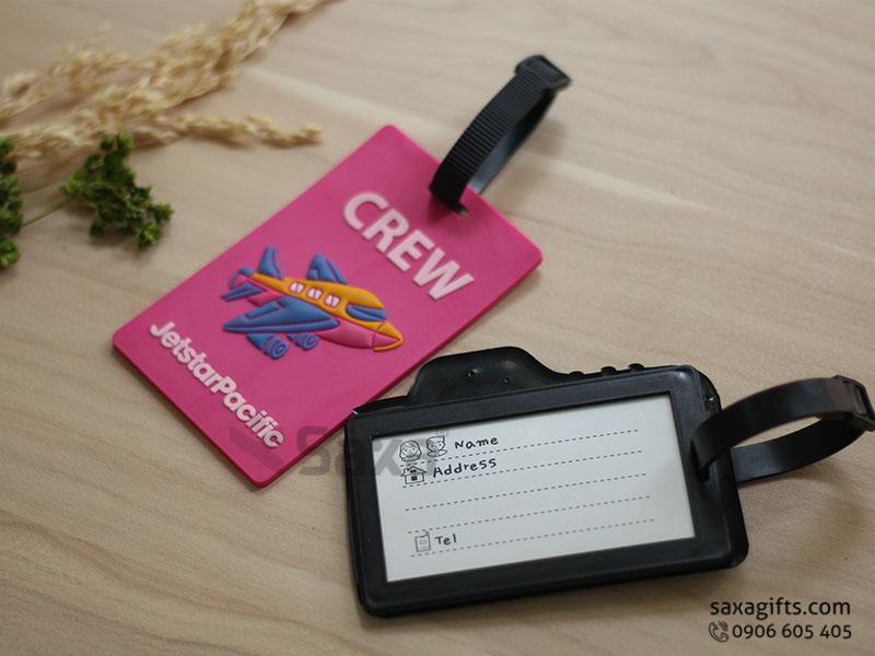 Thẻ đeo vali hành lý in logo làm theo mẫu mô hình máy ảnh