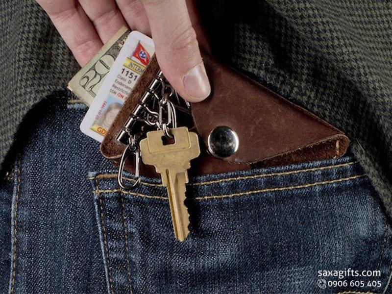 4 Kiểu ví da đựng chìa khóa – In logo làm quà tặng