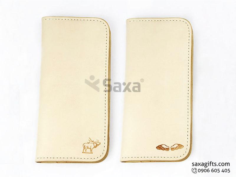 Ví da in logo cho nữ – Kiểu dáng ví đựng tiền cầm tay