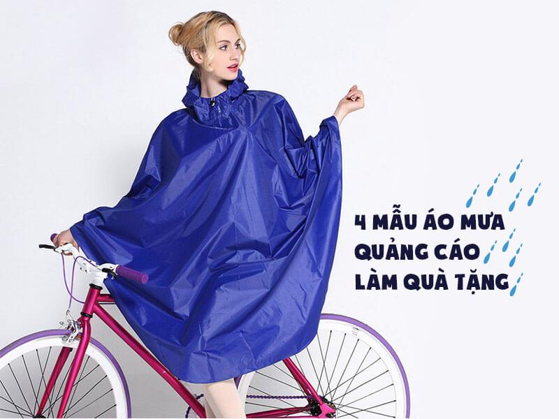4 mẫu áo mưa quảng cáo làm quà tặng